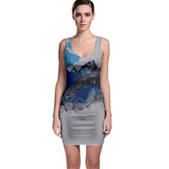 Blue Abstract No.4 Bodycon Dresses