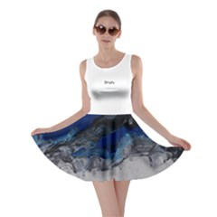 Blue Abstract No.4 Skater Dresses