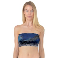 Blue Abstract No 4 Women s Bandeau Tops