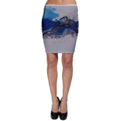 Blue Abstract No.4 Bodycon Skirts