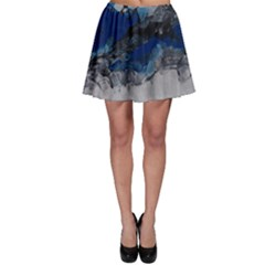 Blue Abstract No 4 Skater Skirts