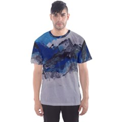 Blue Abstract No 4 Men s Sport Mesh Tees