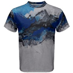 Blue Abstract No.4 Men s Cotton Tees