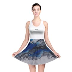 Blue Abstract No.4 Reversible Skater Dresses