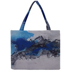 Blue Abstract No.4 Tiny Tote Bags