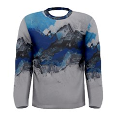 Blue Abstract No.4 Men s Long Sleeve T-shirts