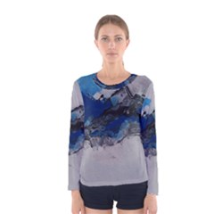 Blue Abstract No.4 Women s Long Sleeve T-shirts