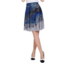 Blue Abstract No.4 A-Line Skirts