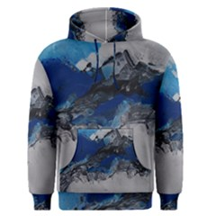 Blue Abstract No.4 Men s Pullover Hoodies