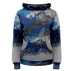 Blue Abstract No.4 Women s Pullover Hoodies