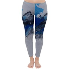 Blue Abstract No.4 Winter Leggings