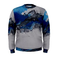 Blue Abstract No 4 Men s Sweatshirts