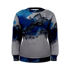 Blue Abstract No.4 Women s Sweatshirts