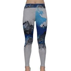 Blue Abstract No.4 Yoga Leggings
