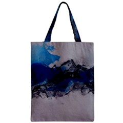 Blue Abstract No 4 Zipper Classic Tote Bags