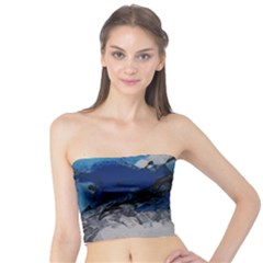Blue Abstract No.4 Women s Tube Tops