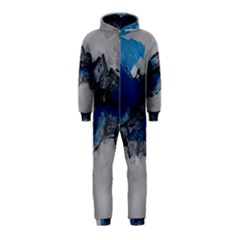 Blue Abstract No 4 Hooded Jumpsuit (kids)