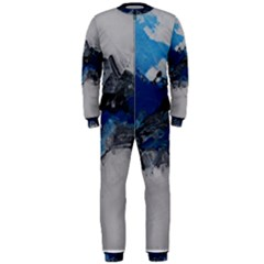 Blue Abstract No 4 Onepiece Jumpsuit (men)