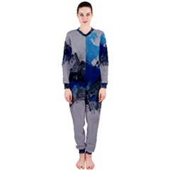 Blue Abstract No.4 OnePiece Jumpsuit (Ladies)