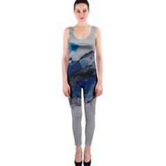 Blue Abstract No.4 OnePiece Catsuits