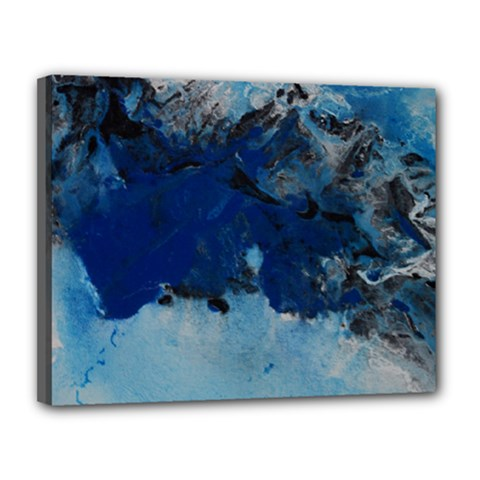 Blue Abstract No 5 Canvas 14  X 11
