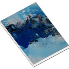 Blue Abstract No.5 Large Memo Pads