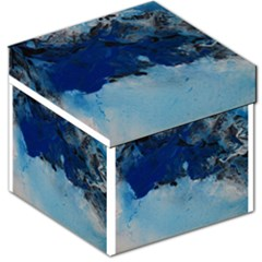 Blue Abstract No 5 Storage Stool 12