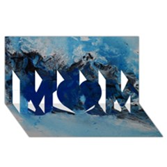 Blue Abstract No 5 Mom 3d Greeting Card (8x4)