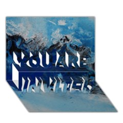 Blue Abstract No.5 YOU ARE INVITED 3D Greeting Card (7x5)