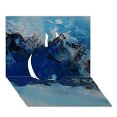 Blue Abstract No 5 Apple 3d Greeting Card (7x5)