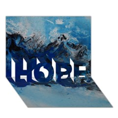 Blue Abstract No 5 Hope 3d Greeting Card (7x5)