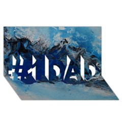 Blue Abstract No 5 #1 Dad 3d Greeting Card (8x4)