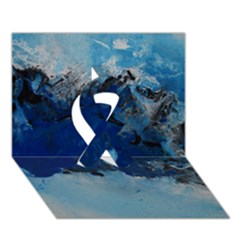 Blue Abstract No.5 Ribbon 3D Greeting Card (7x5)
