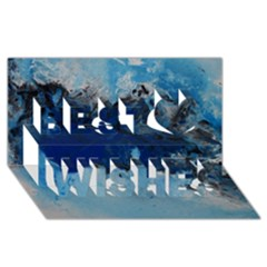 Blue Abstract No.5 Best Wish 3D Greeting Card (8x4)
