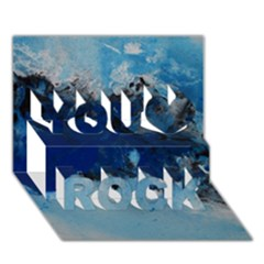 Blue Abstract No.5 You Rock 3D Greeting Card (7x5)