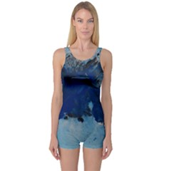 Blue Abstract No.5 Women s Boyleg One Piece Swimsuits