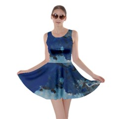 Blue Abstract No.5 Skater Dresses
