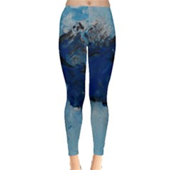 Blue Abstract No.5 Women s Leggings