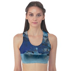 Blue Abstract No 5 Sports Bra