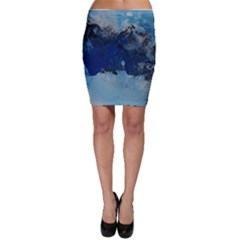 Blue Abstract No 5 Bodycon Skirts