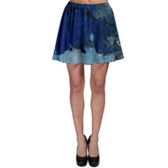 Blue Abstract No 5 Skater Skirts