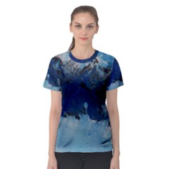 Blue Abstract No 5 Women s Sport Mesh Tees