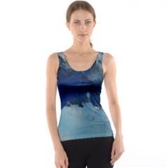 Blue Abstract No.5 Tank Tops