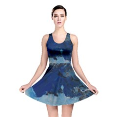 Blue Abstract No.5 Reversible Skater Dresses