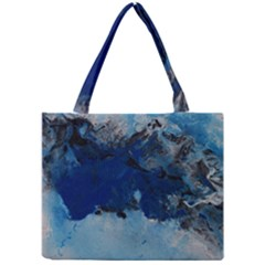 Blue Abstract No 5 Tiny Tote Bags