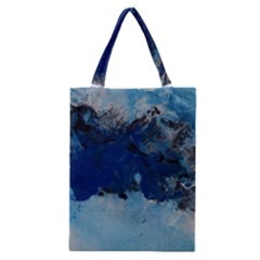 Blue Abstract No.5 Classic Tote Bags