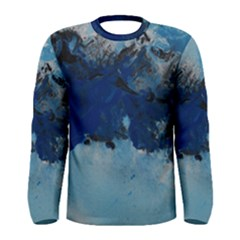 Blue Abstract No.5 Men s Long Sleeve T-shirts