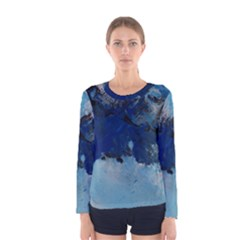 Blue Abstract No 5 Women s Long Sleeve T Shirts