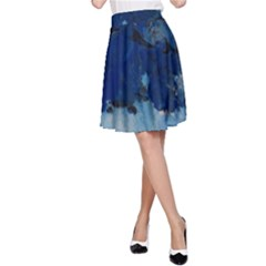 Blue Abstract No.5 A-Line Skirts
