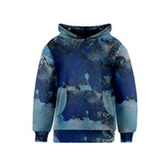 Blue Abstract No 5 Kid s Pullover Hoodies